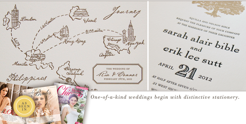 One-of-a-kind weddings begin with distinctive stationery